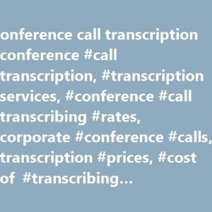 Transcription and Translation Services